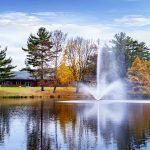 Lake aeration floating water features equipment